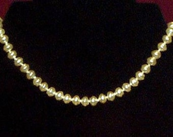 Single Strand Pearl Necklace 8mm - Elizabethan Renaissance - Victorian