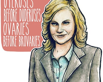 Leslie Knope Parks and Rec Poster Print