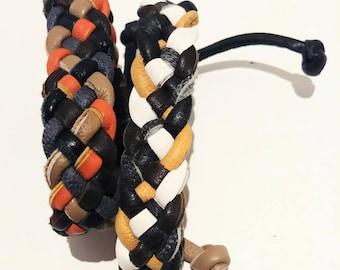 Set of leather bracelets