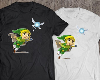 Legend of Zelda - Link Chasing Fairy Companion T-shirt