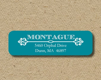 Return address labels, self-adhesive return address labels, personalized address stickers -  royal - in ANY color