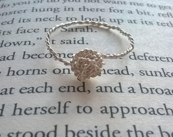 Twisted Wire Knot Ring (Silver)