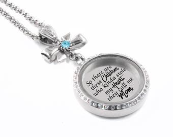Engraved Mothers Locket, Mothers Day Locket, Personalized Engraved Locket, Childrens Names, Birthstone, Mothers Birthstone, stainless steel