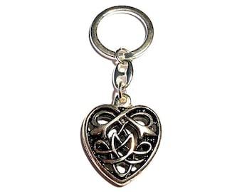 Celtic heart key pendant silver plated Celtic heart Celtic Jewelry