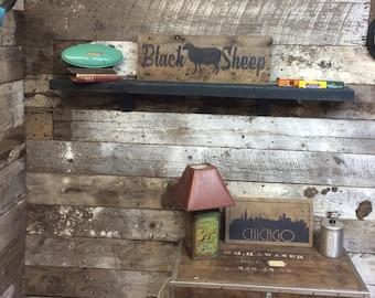 "Medium. ""Black Sheep"" barn wood sign"