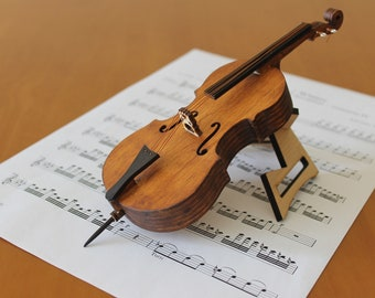 Cello - miniature musical instrument - present - Christmas tree decoration
