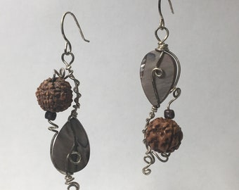 Shiva Beaded Wire Earrings