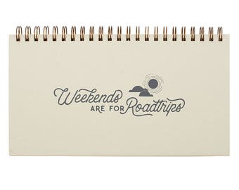 Weekends are for Roadtrips Weekly Planner - Agenda | Desk Planner | Weekly Planner | Undated