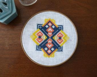 Renee - Geometric Cross Stitch Pattern - Digital Download
