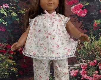 Lace and Bows Summer Pajamas for 18 Inch Dolls