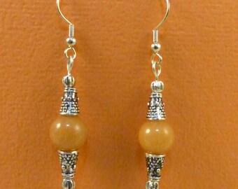 Carnelian and Balinese Silver Earrings - Sterling Silver Ear Wires