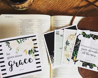 ESV, Mom, Scripture Cards, Motherhood, Gift, Encouragement, Grace, Mother's Day, Baby Shower, Parenting, Gift, Truth Squares, Bible Verse,