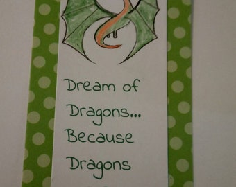 Dream of Dragons bookmark green