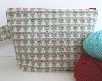 Knitting Project Bag Medium: Scandinavian Christmas