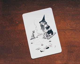 Human Witch - card size print