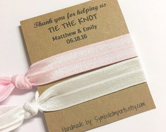 Thank you for helping us tie the knot - Bridesmaid Hair Ties - Wedding Favors - Hair Tie Favor - Bridesmaid Favor - Bridesmaid Gift