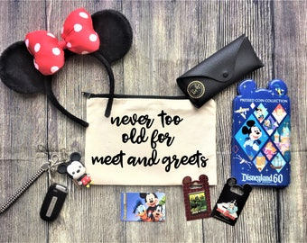 Bridal party stuff etsy never too old for meet and greets pouch cosmetic bag bridesmaid gift make m4hsunfo