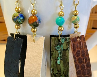 Cork or marine fabric loops with bead
