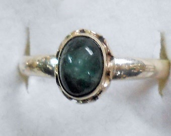 Size 7 Apatite Sterling Silver  Ring New Vintage Wholesale Aqua Teal