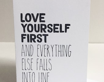 Love Yourself First - Single Card