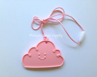 Pink Quartz Cloud Silicone Teether, Cloud Silicone Teether, 100% Food Grade Silicone, Sensory Teether,  Silicone Toy,  Teether Toy