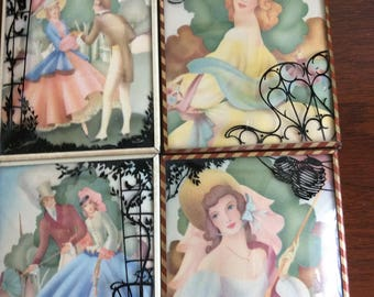 Set of 4 Picture Plaques