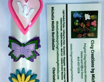 Butterfly, Heart, and Flower Girlie - Mezuzah Case