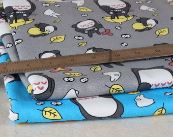 Pretty TOTORO pattern canvas Cotton Fabric 45*150 cm  DIY fabric 1/2y