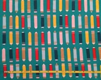 "NEW Cloud 9 Art Class on Green Organic Cotton Interlock 54"" wide per yard"