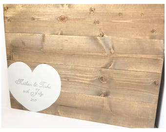 Rustic guest board - wedding guest book - alternative guest book - guest book ideas - wood guest book - rustic guest book - guest book