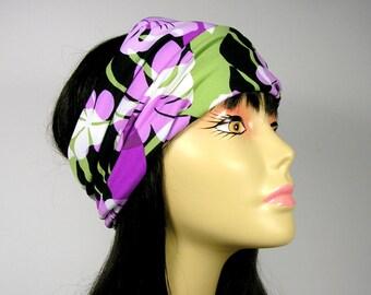Head Wraps Spandex Boho Head Wrap Yoga Head Wrap Yoga Headband Boho Headband Flower Head Wrap Floral Turban Head Wrap Wide Headband