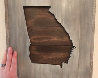 Silhouette of Georgia wall decor