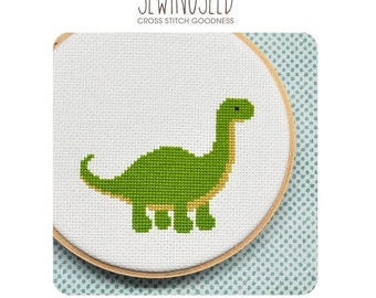 Dinosaur Cross Stitch Pattern - Instant Download