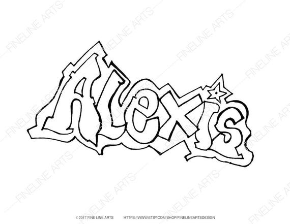 Alexis Coloring Book Pages Girls Baby Womens Names