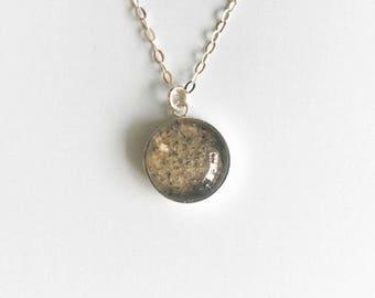 Sand Necklace - Custom Beach Sand Jewelry - Beach Necklace - Sand Jewelry - Sterling Silver Necklace - Beach Sand Jewelry - Sand Pendant