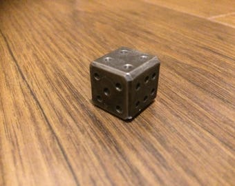 Cube -  small, Dice, Handmade, Forged, Blacksmith, Iron, Steel, History, Decoration, Luck, Gift, Table Game, Tradition