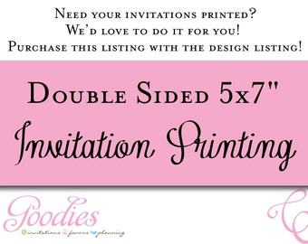 """Double Sided Printing - 5""""x7"""""""