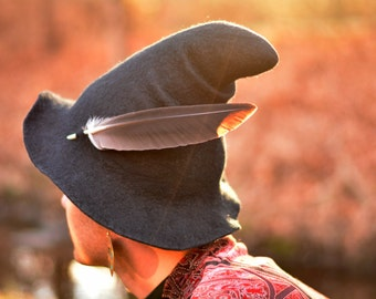 "Costume Hat. ""Gnome"" Hat. Wizard Hat. Fantasy Hat. Cosplay Hat. LARP."