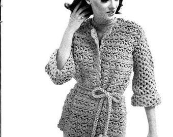 Sweater Jacket Crochet Pattern 723107