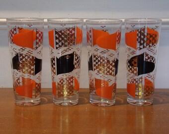 Vintage 1950's/1960's  Drinking Glasses  Set Of 4