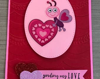 Bee Valentines Card Free Shipping Available