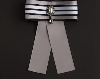 Brooch Ribbon Silver