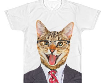 Men's Cat All-Over Printed T-Shirt