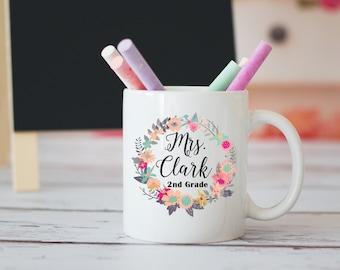 Teacher Coffee Mug, Personalized Teacher Gift, New Teacher Gift, Teacher Appreciation, Back To School Gift, Best Teacher Ever, Elementary