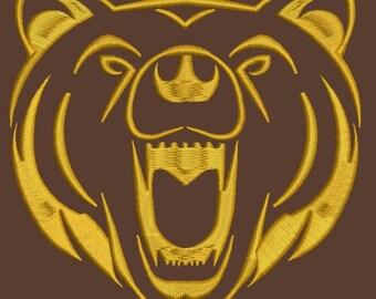bear Machine Embroidery Design