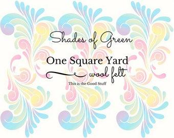 Green Wool Felt, One Square Yard, Pure Merino Wool, Felt Fabric, Choose Color, Certified Safe, Felt Flowers, DIY Felt Craft, Wool Applique