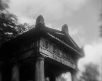 "Art Print ""House of the Dead"" Wall Art Analog Photography Cemetery Photography Dark Art"