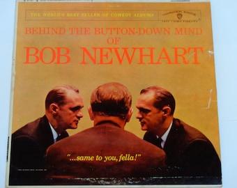 Behind the Button Down Mind of Bob Newhart - Comedy - Original Mono WB Records 1961 - Vintage Comedy Vinyl LP Record Album