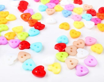 heart shaped plastic buttons 15