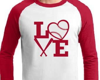 Baseball LOVE - 4 Square - Raglan